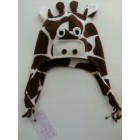 Шапочка Жираф коричневый
